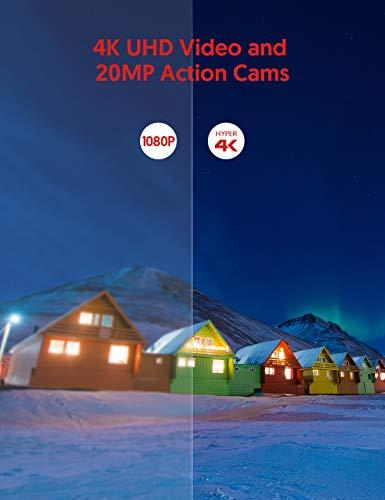 Victure Action Cam 4K Wifi 170° Weitwinkel Aktionkameras Wasserdicht 40M Unterwasserkamera 20MP Ultra Full HD Sport Action Kamera mit Ladegerät 2 Akkus und Gratis Zubehör - 2