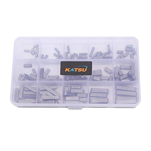 Motor Shaft Keys Set 140pcs Round Ended Passfeder Parallel Antriebswelle 3MM - 6MM