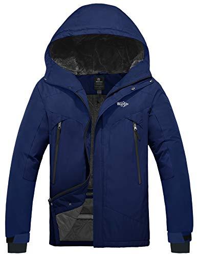 Wantdo Men's Mountain Jacket Waterproof Windproof Snowboard Coat Navy Blue XL