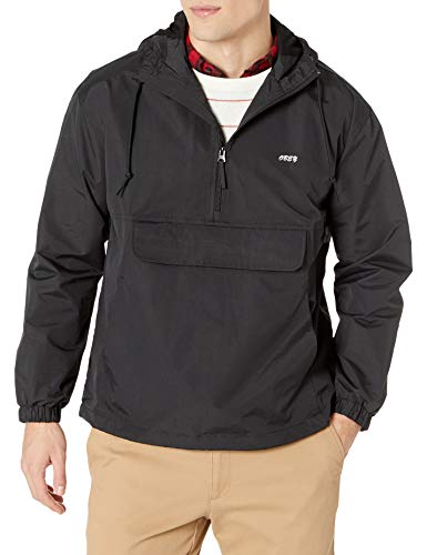 Obey Men's Recess Anorak, Black, Medium