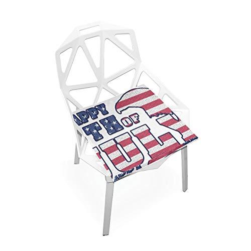 LORONA Holiday Icon Eagle Bald Juli Sitzkissen Stuhlkissen Memory Foam Pads für gesundes Sitzen zu Hause, Büro, Küche, Rollstuhl, Essen, Patio, Camping | Quadrat 16 'x 16'