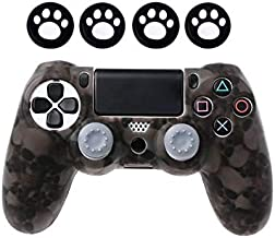 PlayStation 4 Silicone Skull Design Case with 4 Control Stick Covers grey