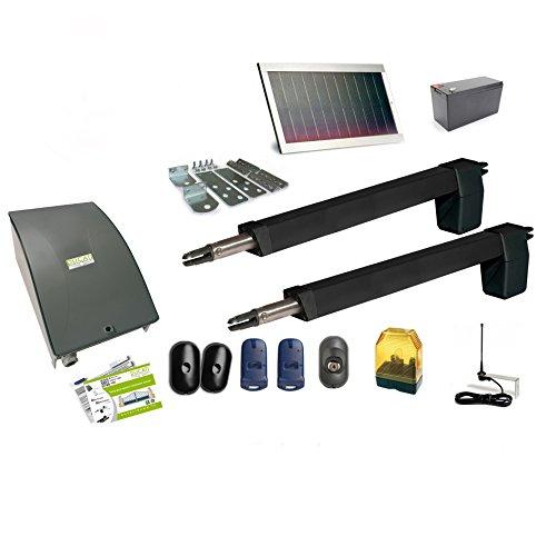 HC812-400 PRO SOLAR automatisme kit motorisation DUCATI HOME pour portail battant Solaire 100% sans fil ouvre portail
