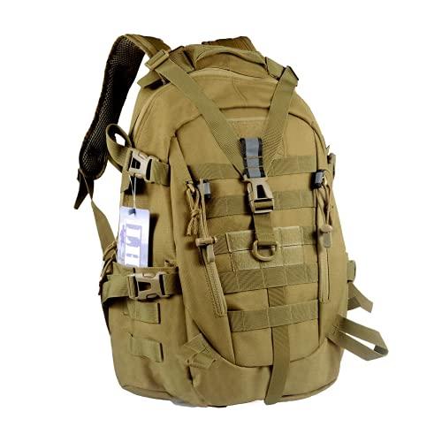 LHI Mochila táctica militar para hombres 35L 45L Ejército Pack BugOut Bolsa Molle Mochila con Reflector, Mochilas tácticas, 35L US, Bronceado