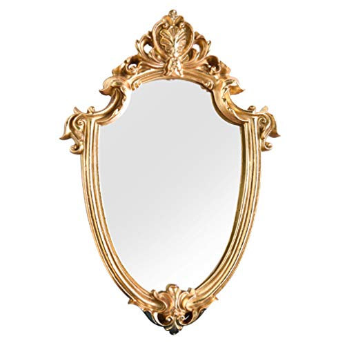 Wakauto Exquisite Makeup Mirror Hanging Mirror Vintage Bathroom Mirror Gifts for Woman -