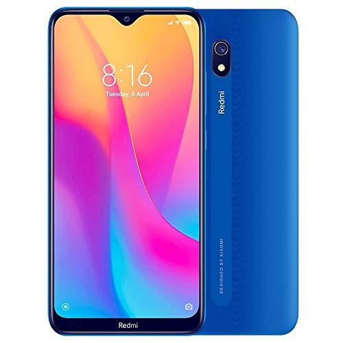 Xiaomi Redmi 8A (32GB, 2GB RAM) 6.22' HD Display, Snapdragon 439, Dual SIM GSM Unlocked - US & Global 4G LTE International Version (Ocean Blue)