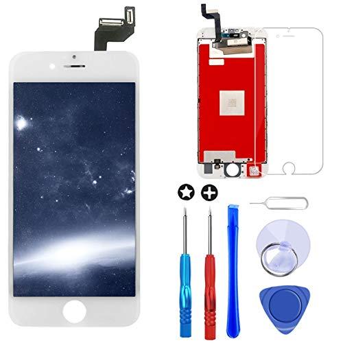 Brinonac Display per iPhone 6S Plus Schermo Bianco 5,5 Pollici LCD Touch Screen Frame Vetro Schermo Kit Smontaggio Trasformazione Completo di Ricambio Utensili Inclusi
