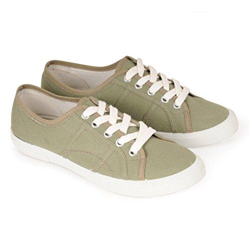 Jonny´s Vegan Sneaker Natural Khaki, Gr. 41 - (7710-6Y/KAKI43/GR.41)