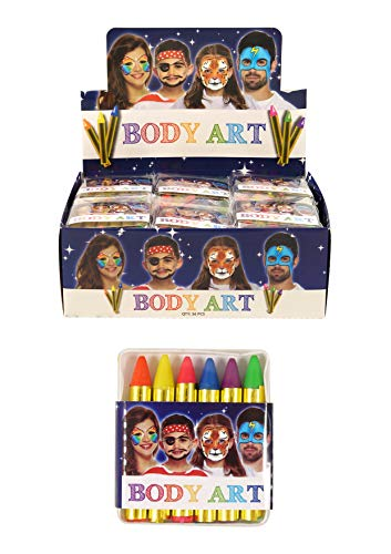 Neon Colour Face and Body Crayons