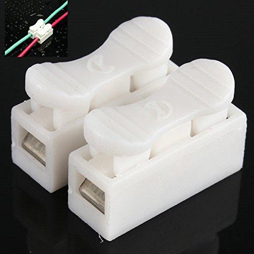 Tutoy Connecteur De Ressort 2P De Bande De LED sans Fil sans Vis pour 3528 Ou 5050 Lumière Simple De Couleur