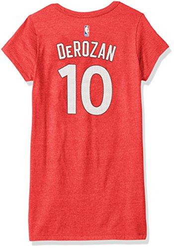 adidas Damen-T-Shirt mit Flügelärmeln, Netzstoff, glitzernd, Damen, Mesh Bling Name & Number Cap Sleeve Tee, rot, Large