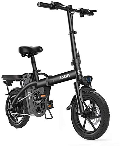 Electric Bikes, Fast Electric Bikes for Adults Electric Bike for Adults 48V Urban Commuter Folding E-bike Folding Electric Bicycle Max Speed 25 Km/h Load Capacity 150 Kg ,E-Bike ( Color : Black )