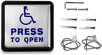 Olideauto Handicap Door Access Stainless Push Button 4-1/2''(L) x4-1/2''(W)