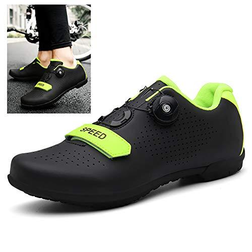 Zapatillas De Ciclismo MTB con Suela de Carbono de y Cierre Rotativo...