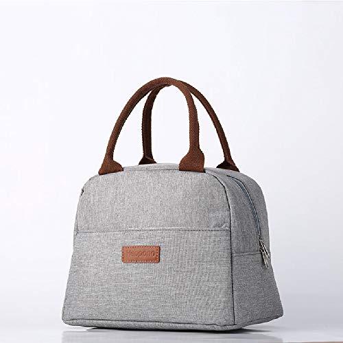 Bolsa de almuerzo, bolsa de almuerzo térmica/enfriadora, con gran capacidad y material impermeable.Bolsa Portátil Aplicar para hombres y mujeres Escuela/oficina/picnic (gris)