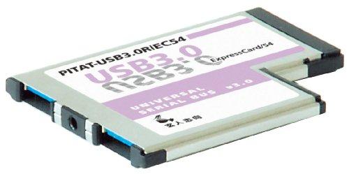 玄人志向 NEXTシリーズ ExpressCard/54接続 USB3.0増設インターフェースカード USB3.0-EC54-P2