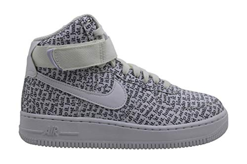 Nike Damen WMNS Air Force 1 Hi Lx Fitnessschuhe, Mehrfarbig (White/White/White/Black 100), 37.5 EU
