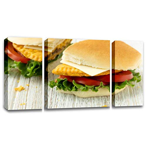 BSPWIRFNZPL Jamaican Beef Patty on Coco Bread Wall Decor Print on Canvas Modern Home Office Artwork Living Room Bedroom Painting Art Wall