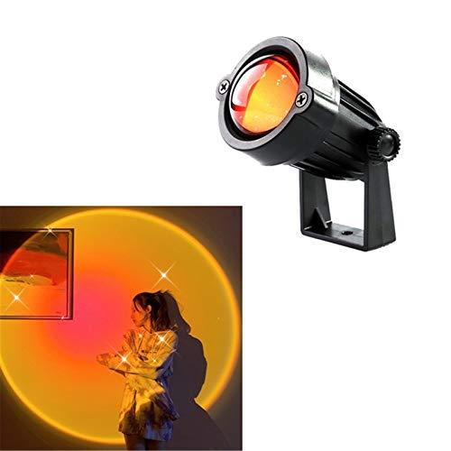 Lámpara De Escritorio Sunset, Lámpara De Proyección De Arco Iris Lámpara Led Sala De Estar Dormitorio Fondo Lámpara De Color De Pared Disparo En Vivo, Para Cine Tema Proyector Regalo Boda,Sunset