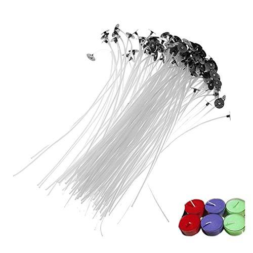 YSNUK 100pcs / Bolso Velas de núcleo de algodón Puro mechas 2.5/4.5/8/12/15/20 cm Fabricación de Velas de Bricolaje Pre-Encerado con mechas de Aceite para Suministros de Fiesta