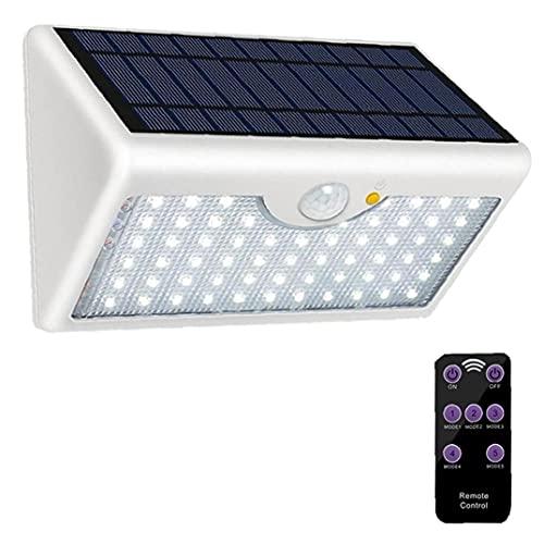 chengbaohuqu Lámpara De Pared con Sensor De Control Remoto Luz De Seguridad 60 Led Solar Al Aire Libre Sin Hilos Super Brillante para La Pared del Garaje