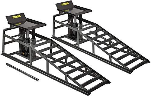 DXL 2T Rampe Hebebühne Hebeplattform,Auffahrrampen Set ,mit Hydraulisch Wagenheber