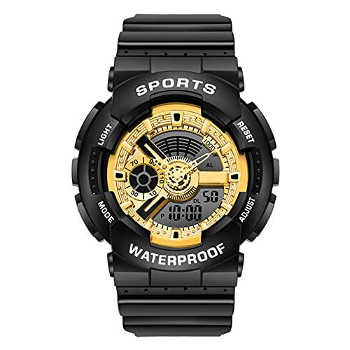 TREWQ Relojes Deportivos para Hombre, Digital Militares Relojes con Cuenta atrás para los Hombres LED Electrónico Grande Relojes Resistente al Agua 50M,Black Yellow