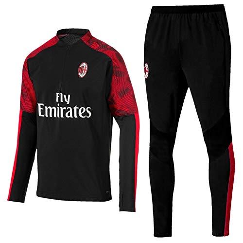 QJY AC Milan Material Juego Camisa de los Hombres + Pantalones Fútbol...