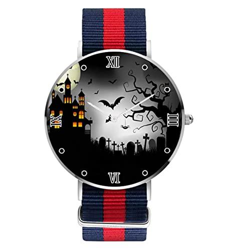 Reloj de cuarzo analógico de cuarzo para mujer, diseño de murciélago, color negro, para mujer y hombre, unisex, de acero inoxidable, para negocios, estilo casual,
