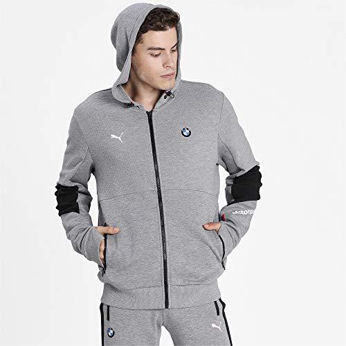 PUMA Fórmula 1 BMW Motorsport - Sudadera con capucha para hombre, talla M, color gris jaspeado
