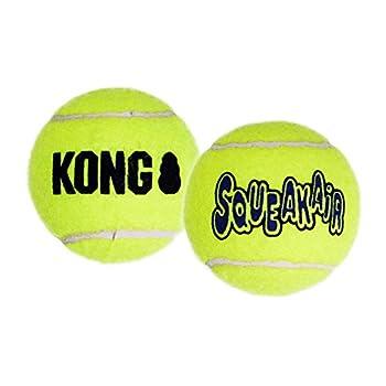KONG - Squeakair Balls - Balle de Tennis couineuse, n'abîme Pas Les Dents - pour Chien Petite Taille (3 Paquets)
