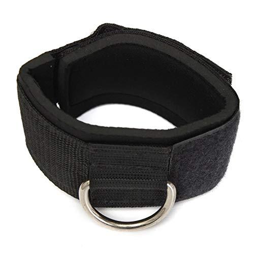 Reúne la correa del tobillo anillo en D multi gimnasio cable accesorio muslo pierna polea levantamiento de peso negro