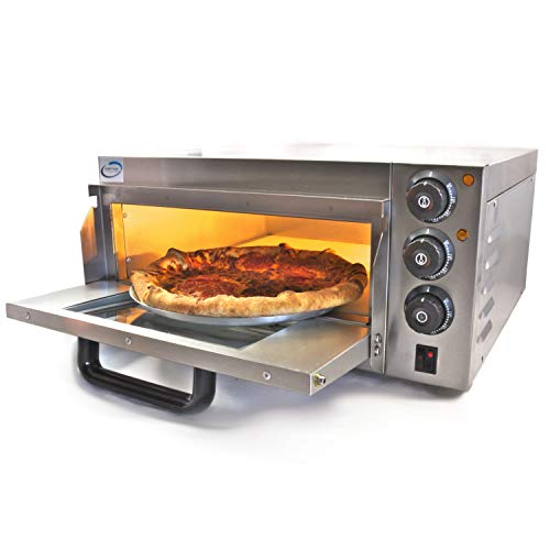 Chef-hub Single Deck Stone Base Electric Commercial Pizza Oven 2KW, Pizza maker, Oven Pizza Maker
