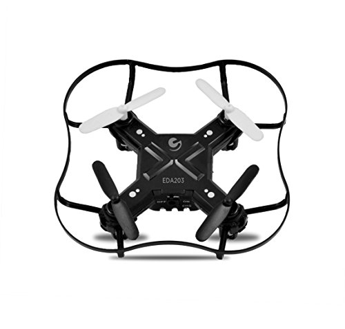 Ematic Nano Quadcopter Drone with 2.4GHz Control and 6-Axis Gyroscope, EDA203