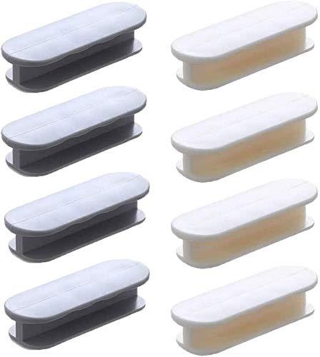 LYTIVAGEN 8 tiradores auxiliares para armarios de coche, autoadhesivos, instantáneos, para cajones, puertas, ventanas, cajones, armarios y frigoríficos (gris/blanco)