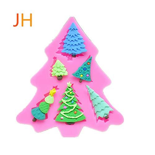 6 moldes de silicona en forma de árbol de Navidad de sina, 6 moldes de árbol de Navidad con forma de chocolate, 6 moldes para árbol de Navidad, modelos, 1 pieza