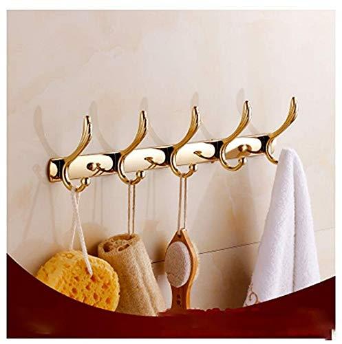 obzk Bath Towel Holder en Suite Metal Pendant Continental Bathroom Towel Holder Gold Gold Toilet Shelves Antique Gold Installation