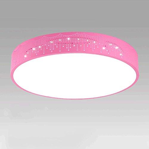 PIAOLING Modernen Minimalistischen Schlafzimmer Wohnzimmer Deckenleuchte, LED Rundhohl Gestreifte Deckenleuchte, Kreative Persönlichkeit Jungen Und Mädchen Kinderzimmer Lampen ( Color : Pink-30*10CM )