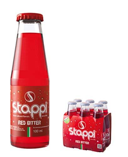 STAPPI Bitter Rosso Analcolico 100 ml - Packaging da 24 Bottiglie