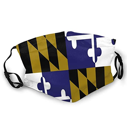 NA Andrews-0L Comfortable Face Mask Maryland Flag Football Baltimore Ravens Colors Purple Gold Sun-Proof Fashion Bandana Headwear for Fishing
