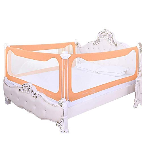 Best Bargain Bed Rails Bumpers Liftable Safety Crib Guardrail 3-Sided Extra-high Bed Guardrail Suita...