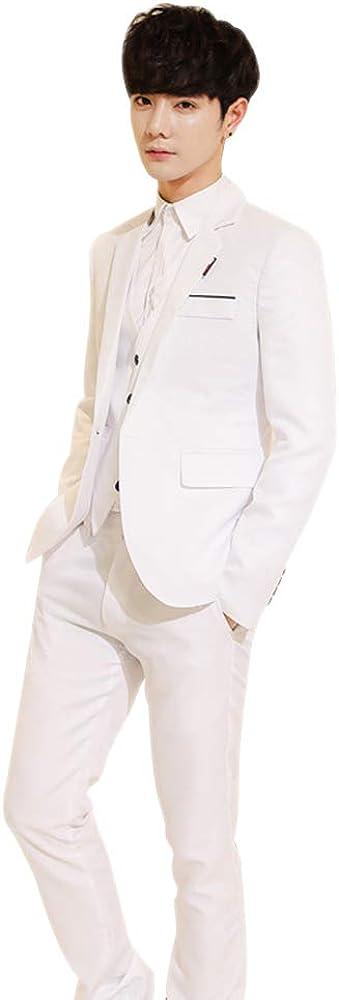 BOZEVON Mens Suit 3 Piece Sets Slim Fit Formal Blazers Jacket Waistcoat Trousers