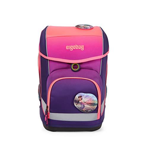 ergobag cubo Set - ergonomischer Schulrucksack, Set 5-teilig - FeentraumBär - Pink
