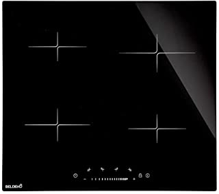 BELDEKO Table De Cuisson Induction 4 Foyers SLIDER et Minuterie 8400 WATTS