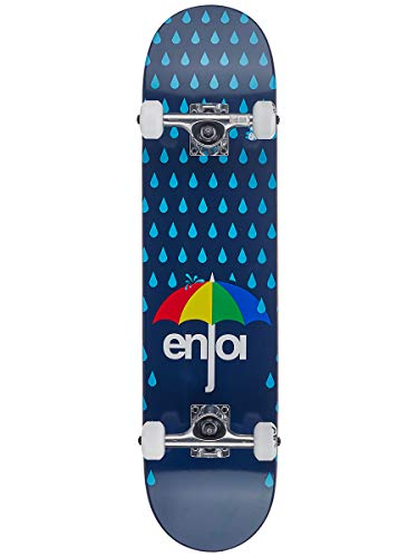 Enjoi Skateboard Komplett Raining Panda Soft Wheels - 7.625 Inch Dark Blau (One Size, Blau)