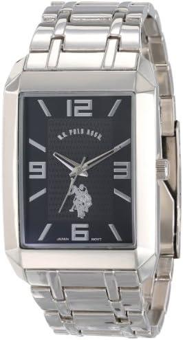 U S Polo Assn Classic Men s USC80003 Rectangular Black Dial Bracelet Watch product image