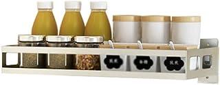YJKDM Support à épices Mural, étagère de Cuisine en Acier Inoxydable 304, Support de Rangement Multifonction pour Cuisine ...