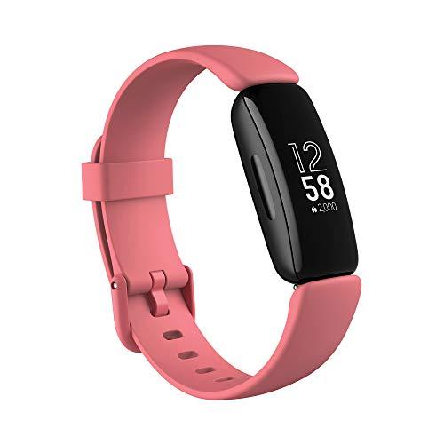 Fitbit Inspire 2 - Tracker per Fitness e Benessere con Un Anno di Prova Gratuita del Servizio Fitbit Premium, Rilevazione Continua Battito Cardiaco e Durata Batteria fino a 10 giorni, Desert Rose