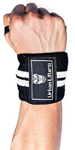 Urban Lifters Fasce per i Polsi (Coppia) -Wrist Wraps (Nero/Bianco)