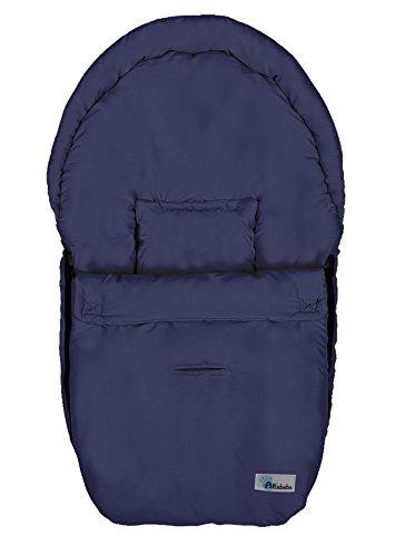Altabebe AL2610-01 Sacco termico estivo per seggiolino da auto, gruppo 0, 3 e 5 passanti per cintura di sicurezza, blu navy